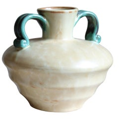 Upsala-Ekeby, Vase, Glazed Stoneware, Sweden, 1940s