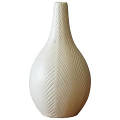 Upsala-Ekeby, Vase, Painted and Incised Ceramic, Sweden, 1930s