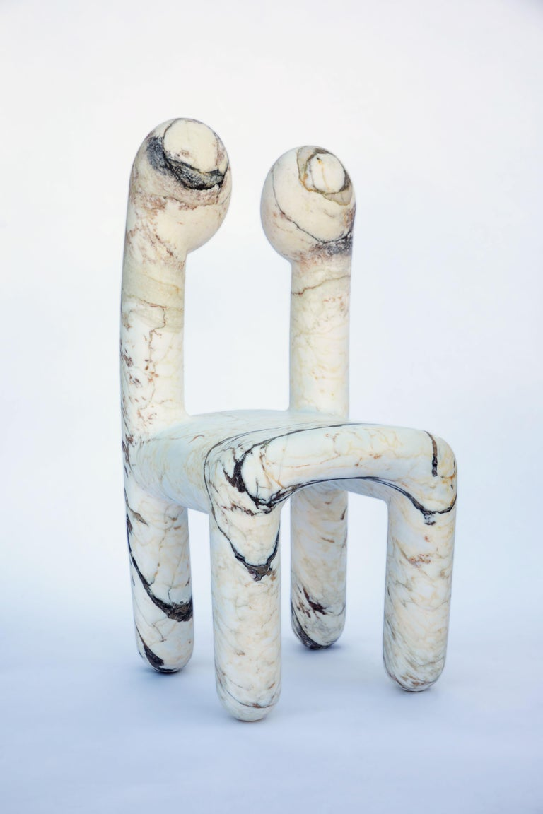 Brushed Urania Chair by Pietro Franceschini For Sale