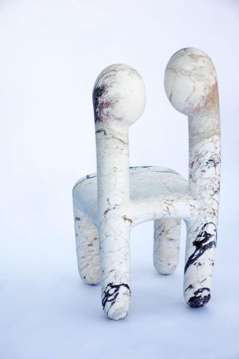 Marble Urania Chair by Pietro Franceschini For Sale