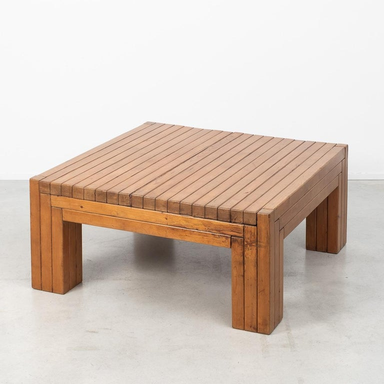 Post-Modern Urano Palma Square Coffee Table, Italy, 1980 For Sale