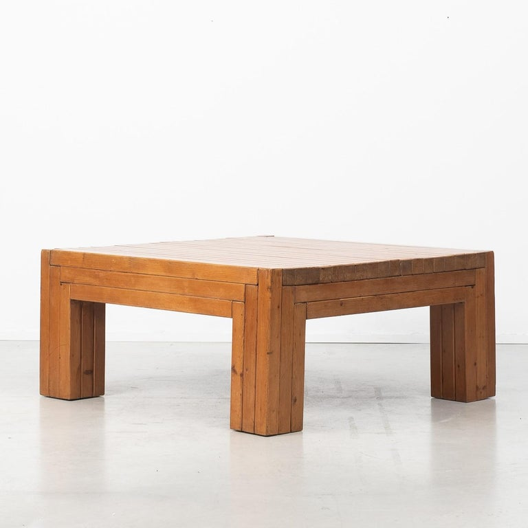 Late 20th Century Urano Palma Square Coffee Table, Italy, 1980 For Sale