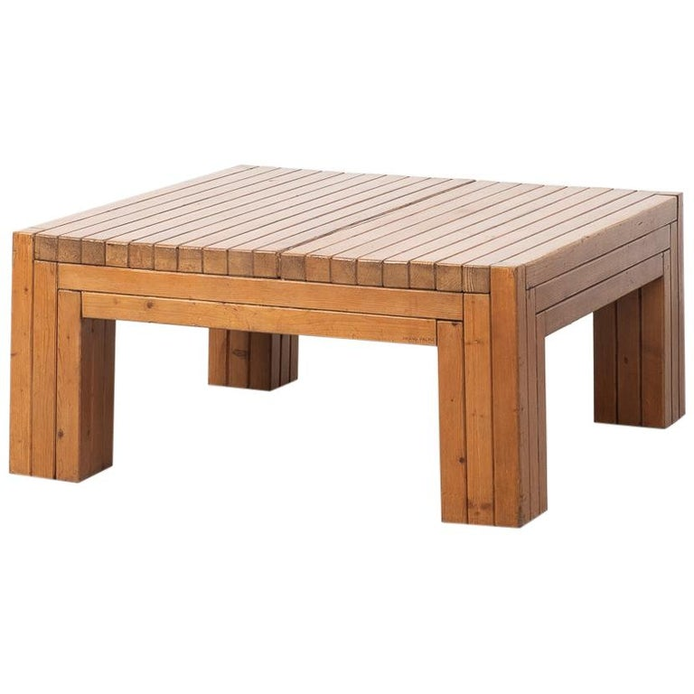 Urano Palma Square Coffee Table, Italy, 1980 For Sale