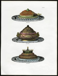Untitled. Plate 96, Dessins 284-286: 284-286 - Luxury table decoration.