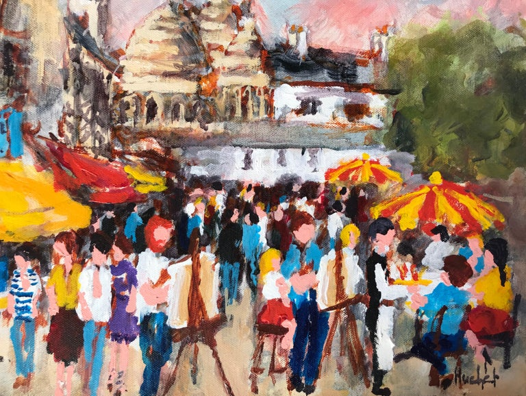 """""""Montmartre"""" - Contemporary Painting by Urbain Huchet"""