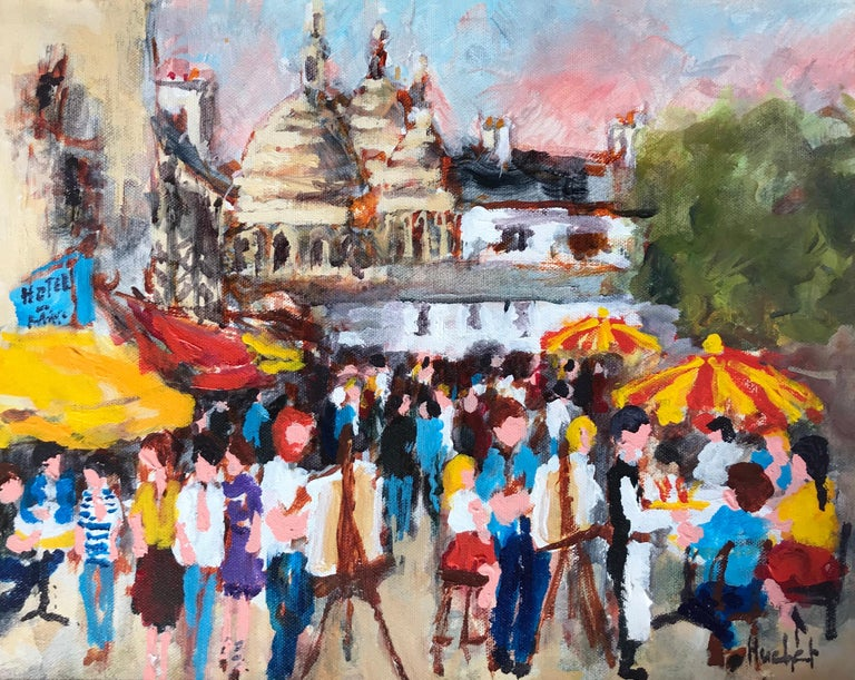 "Urbain Huchet Figurative Painting - ""Montmartre"""