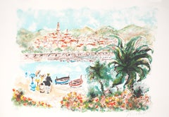 French Riviera : Saint Tropez - Signed Original Lithograph