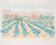 Lavender Fields in Provence - Signed Original Lithograph