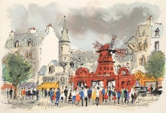 Montmartre : Le Moulin Rouge - Original Lithograph, Handsigned and Numbered