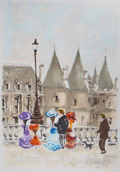 Paris : la Conciergerie - Handsigned Lithograph