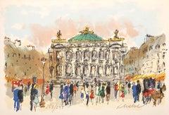 Paris Opera : Palace Garnier - Original Lithograph, Handsigned and Numbered