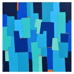 'Urban Composition' Original Abstract Painting by Lars Hegelund