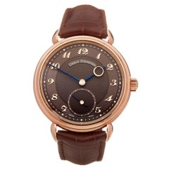 Urban Jurgensen Time Only 18 Karat Rose Gold Rose Gold 1140RG Wristwatch