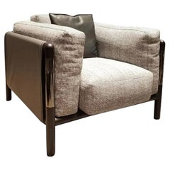 Urban Leather and Fabric Armchairs Giorgetti by Carlo Colombo