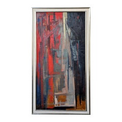 Urban Song, Oil on Board Abstract Painting by Walter Prochownik