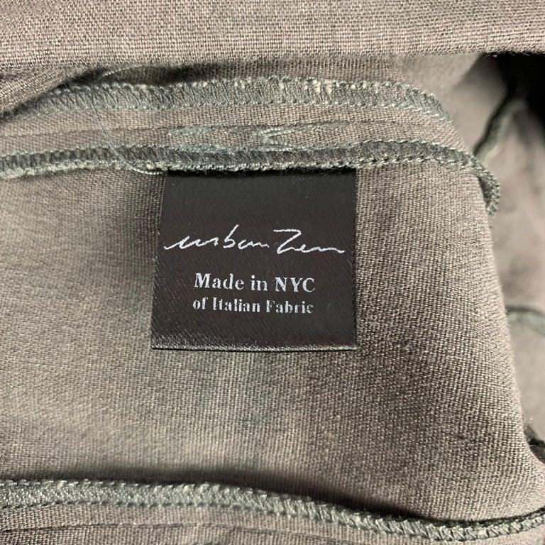 Women's URBAN ZEN by DONNA KARAN Size 2 Slate Linen Blend Leggings For Sale