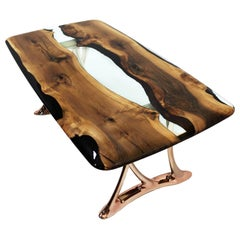 Urbane 200 Epoxy Resin Dining Table with Sand Casted Aluminum Base