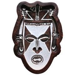 Urbano Zaccagnini Ceramic 'Tribal' Mask Bowl