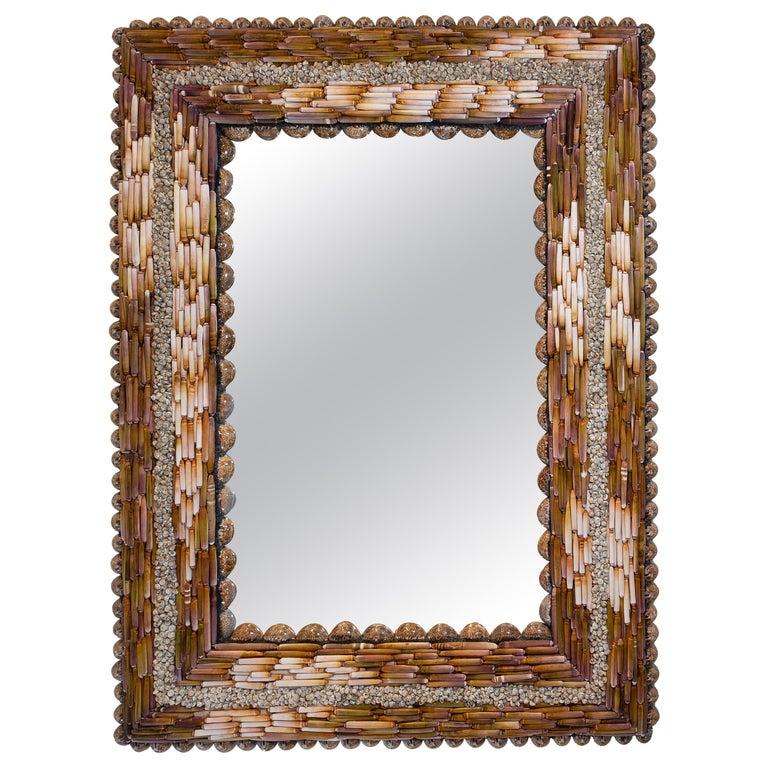 Urchin Pearls, Unique Shell Mirror by Shellman Scandinavia For Sale