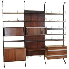 Urio Wall System by Ico Parisi for Mim Roma, 1960s, Italy Bookcase