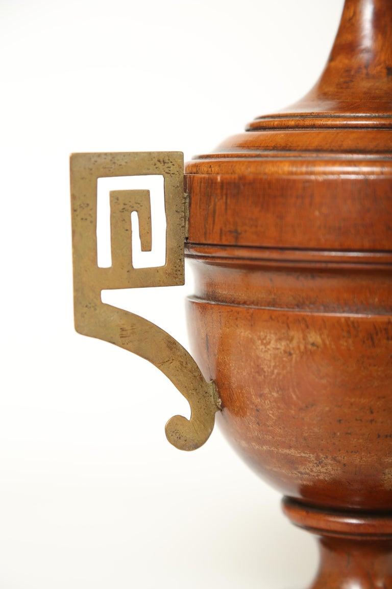 English Urn Shaped Treen Tobacco Jar For Sale