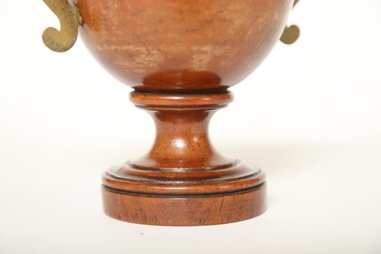Hand-Carved Urn Shaped Treen Tobacco Jar For Sale