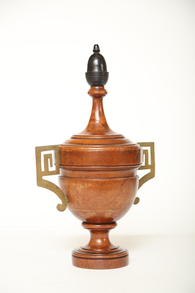 Urn Shaped Treen Tobacco Jar In Good Condition For Sale In West Palm Beach, FL
