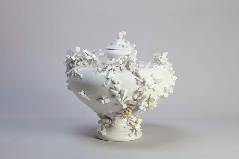 Unique piece, 2017, glazed earthenware 43 x 40 cm h