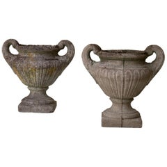 Urns French Stone Grey Late 19th Century France