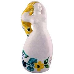 Ursula Printz for Gustavsberg, Rare Naked Woman in Glazed Ceramics