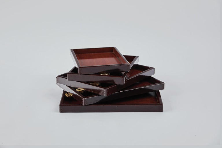 Japonisme Urushi Layered Box2 Ryosuke Harashima Contemporary Zen Japanese Mingei For Sale