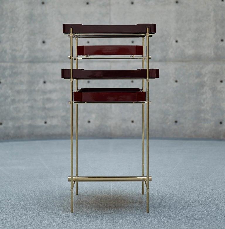 Urushi Tray Shelf Ryosuke Harashima Contemporary Zen Japanese Craft Mingei For Sale 1