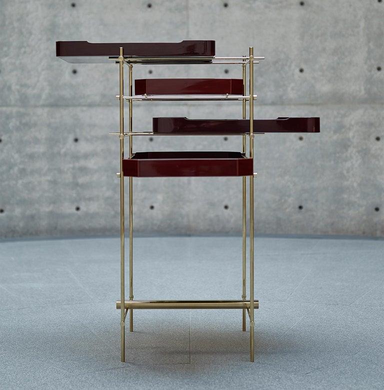 Urushi Tray Shelf Ryosuke Harashima Contemporary Zen Japanese Craft Mingei For Sale 2