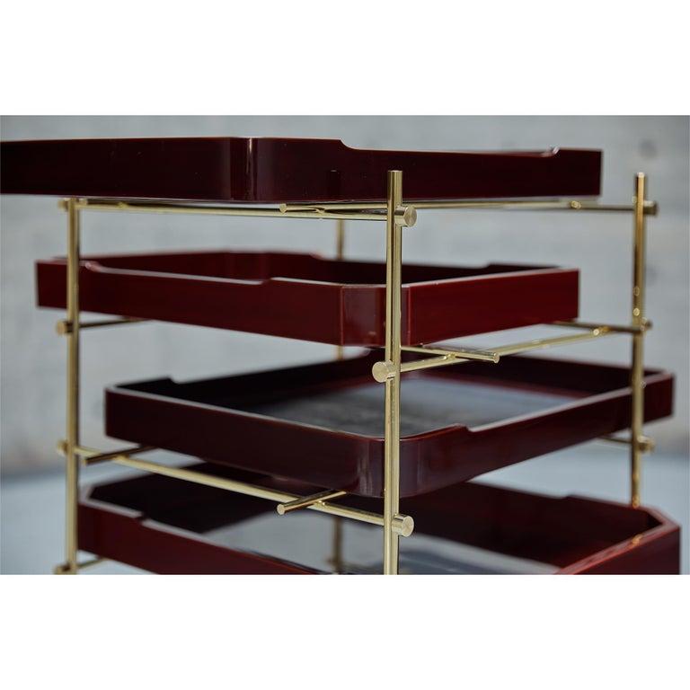 Urushi Tray Shelf Ryosuke Harashima Contemporary Zen Japanese Craft Mingei For Sale 3