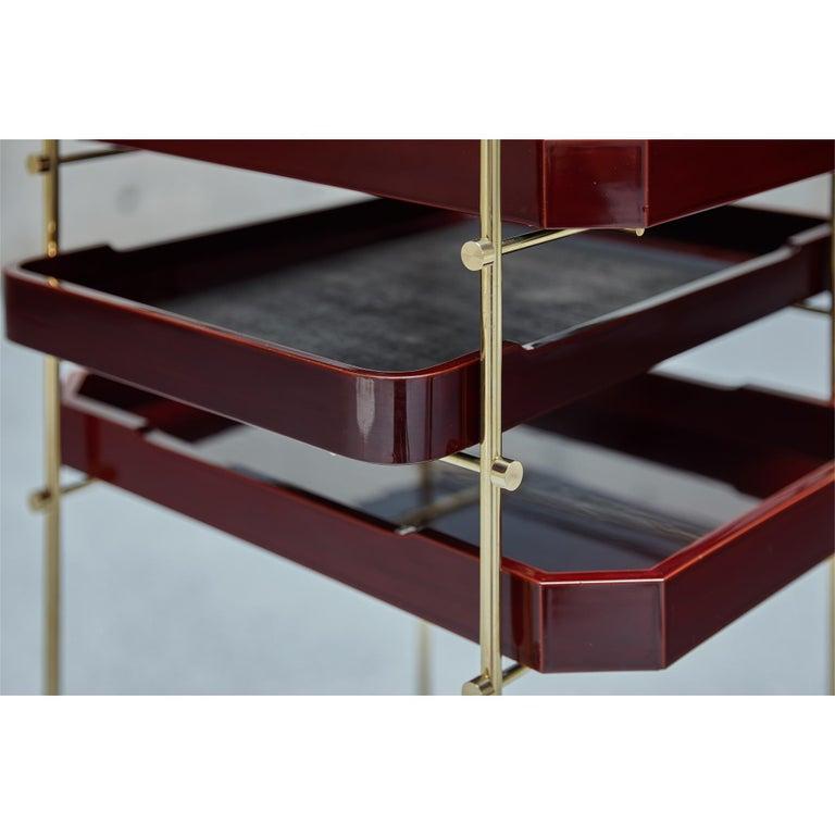 Urushi Tray Shelf Ryosuke Harashima Contemporary Zen Japanese Craft Mingei For Sale 4