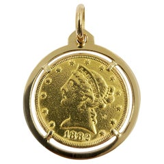 US $5 Gold Coin Pendant