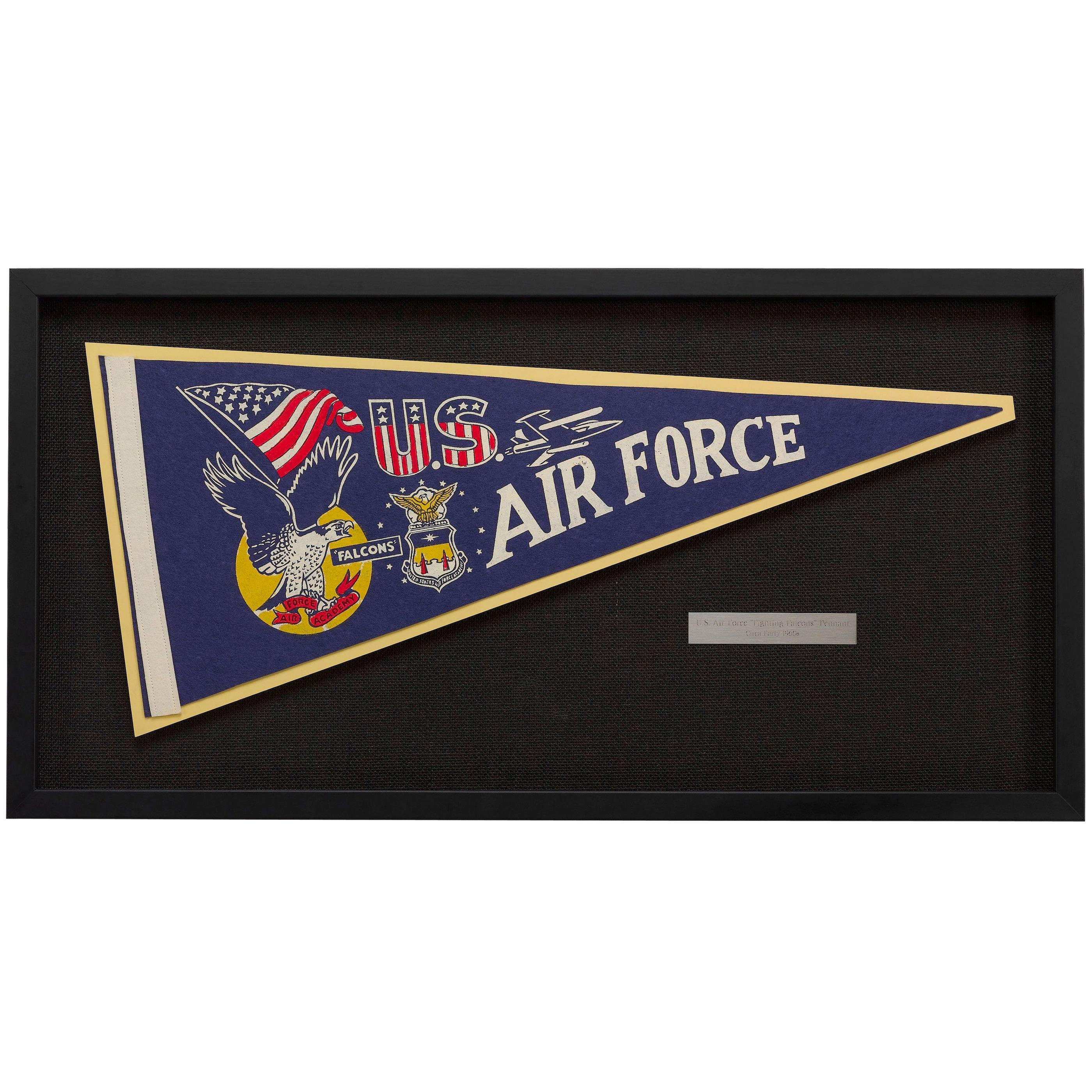 U.S. Air Force Academy Falcons Vintage Pennant, circa 1960s