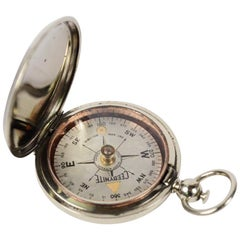 US Army Pocket Compass First World War Chromed Brass