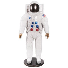 US Astronaut NASA Sculpture Life-Size in Resin