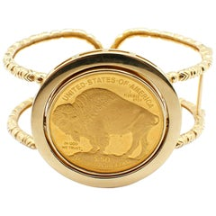 US Liberty $50 Buffalo Coin Cuff Bracelet