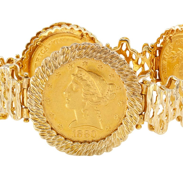 US Liberty $5 00 Gold Coin Bracelet
