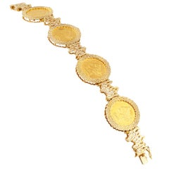 US Liberty $5.00 Gold Coin Bracelet