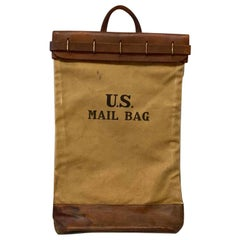US Mail Bag, Leather and Canvas, 1930s