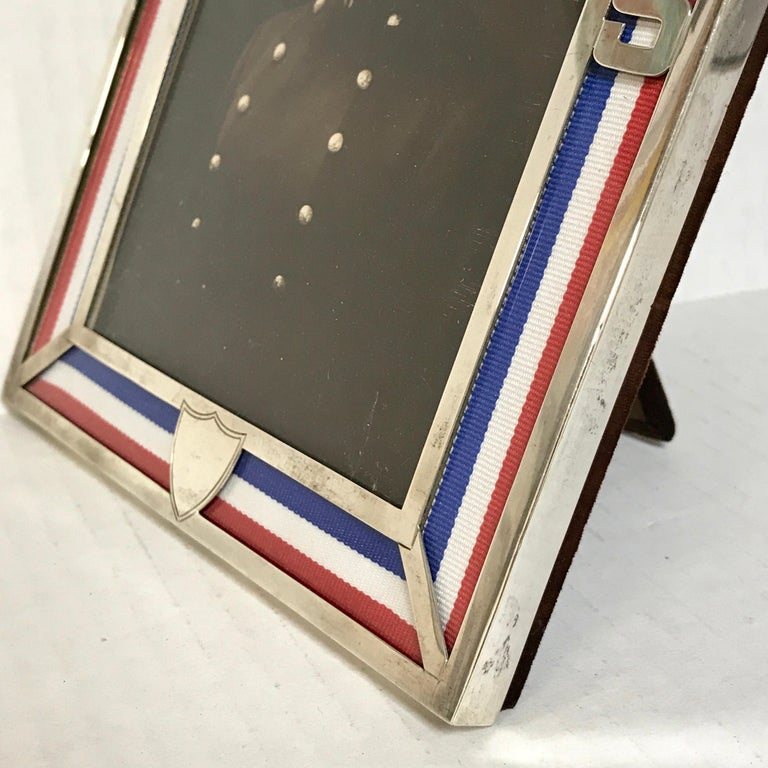 US Military Sterling and Gold US Emblem Motif Frame, WWI Era, Theodore B. Starr For Sale 4