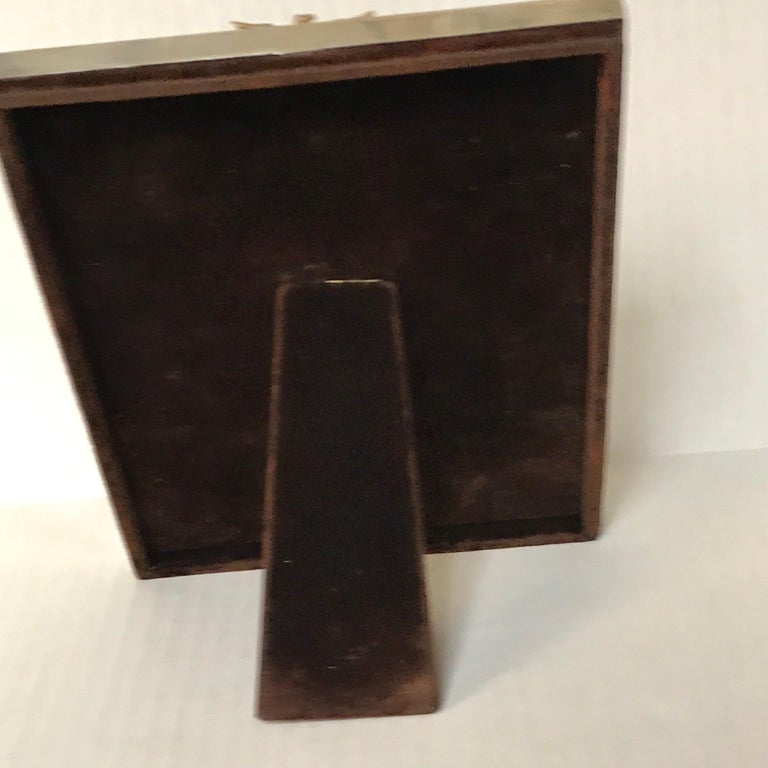 US Military Sterling and Gold US Emblem Motif Frame, WWI Era, Theodore B. Starr For Sale 5