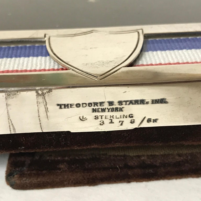 US Military Sterling and Gold US Emblem Motif Frame, WWI Era, Theodore B. Starr For Sale 6