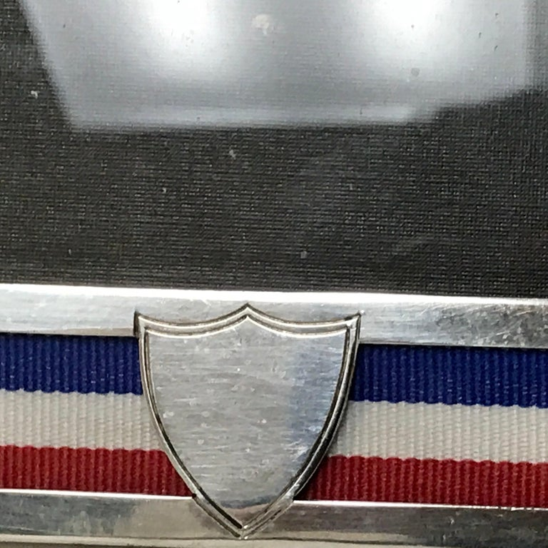 US Military Sterling and Gold US Emblem Motif Frame, WWI Era, Theodore B. Starr For Sale 1