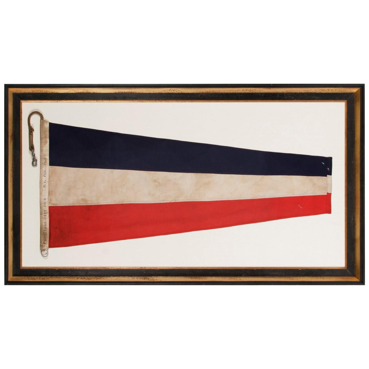 U.S Navy Formation Pennant, Made at Mare Island, California