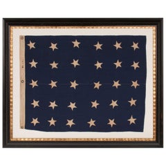 U.S. Navy Jack with 30 Stars, Entirely Hand-Sewn, Pre- Civil War Example