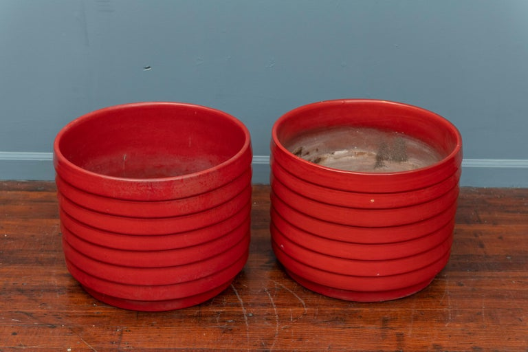 US Pottery of Paramount Ring or Ribbed Planters In Good Condition For Sale In San Francisco, CA